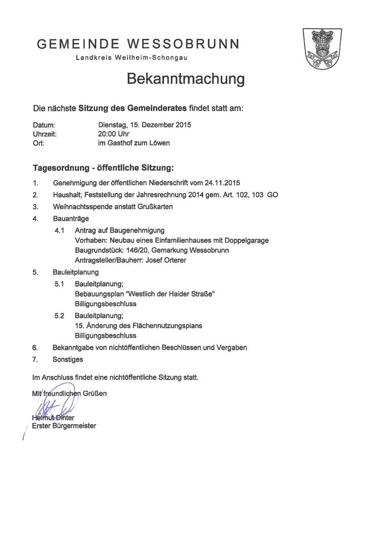 Gemeinde Wessobrunn